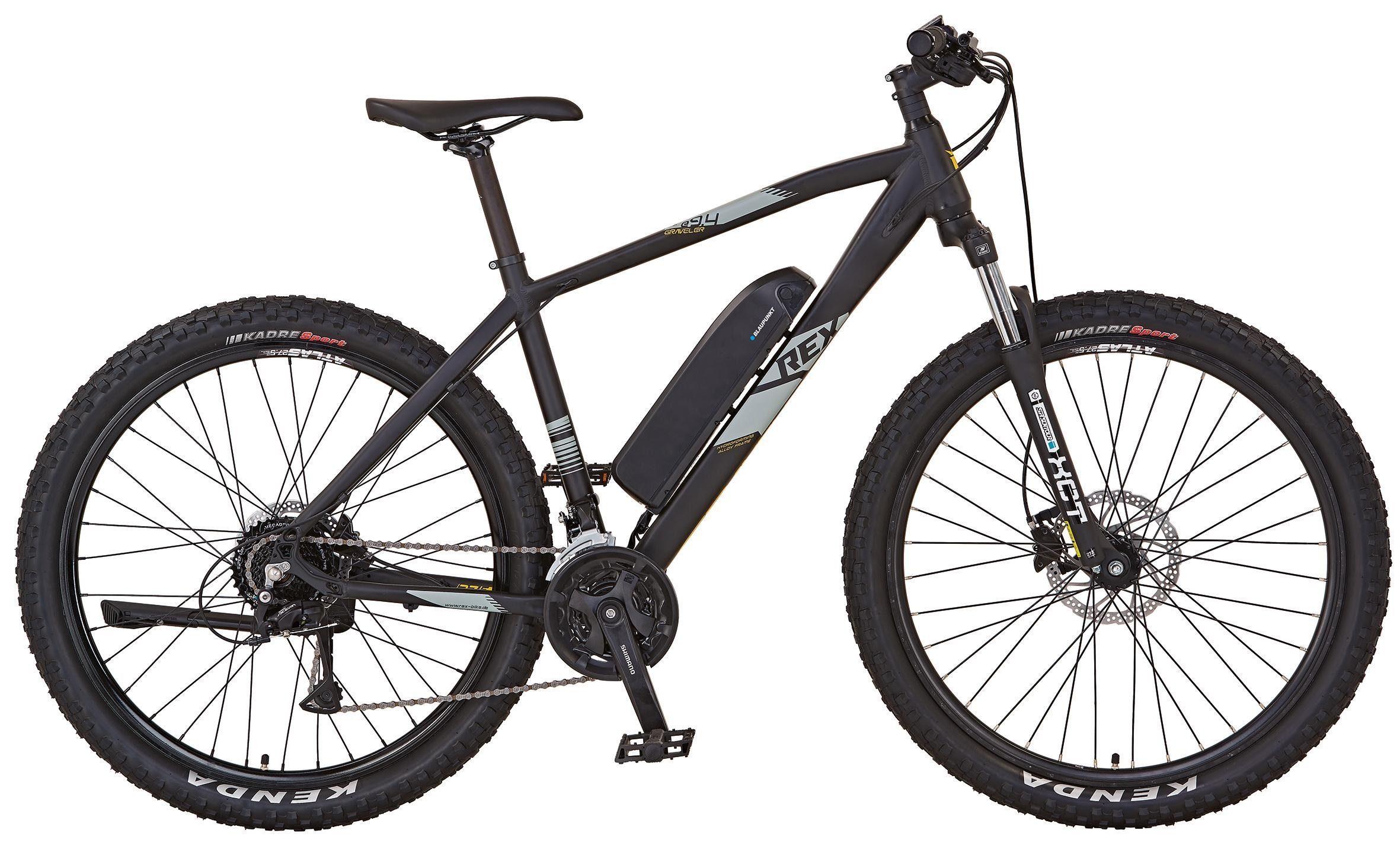 REX Bike Elektrofahrrad »GRAVELER e9400 OTTO Edition«, 24 Gang Shimano Deore Schaltwerk, Kettenschaltung, Heckmotor 250 W, (Set, mit Pannenset)