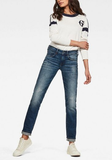 G-Star RAW Straight-Jeans »3301 Deconst Mid Straight Wmn« mit Stretch