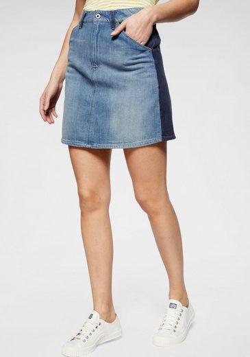 G-Star RAW Jeansrock »Faeroes Zip Skirt« kontrastfarbene Details