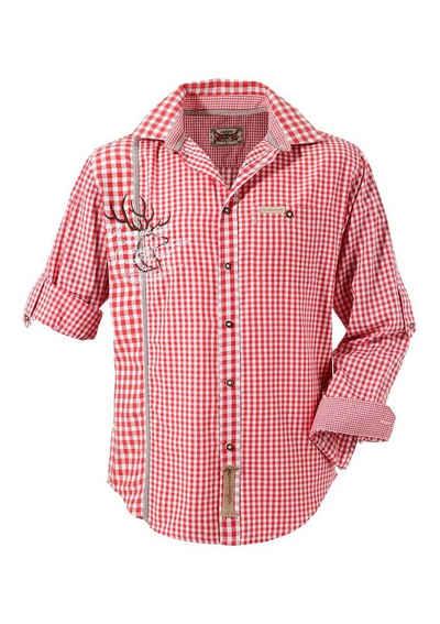 Stockerpoint Trachtenhemd mit traditioneller Strickerei