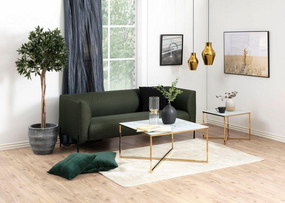 andas couchtisch alina aus glas mit mamor print gestell. Black Bedroom Furniture Sets. Home Design Ideas