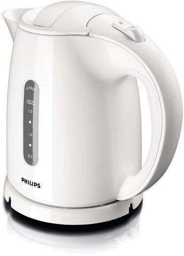 Philips Wasserkocher HD4646/00 Daily Collection, 1,5 l, 2400 W, Anti-Kalk, weiß