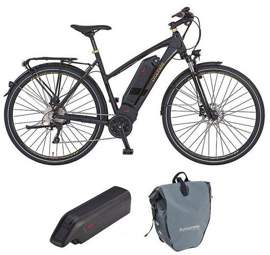 Prophete E-Bike »eSport«, Shimano Deore Schaltwerk, Kettenschaltung, Mittelmotor 250 W, (Set, mit Ersatzakku, mit Seitentasche)