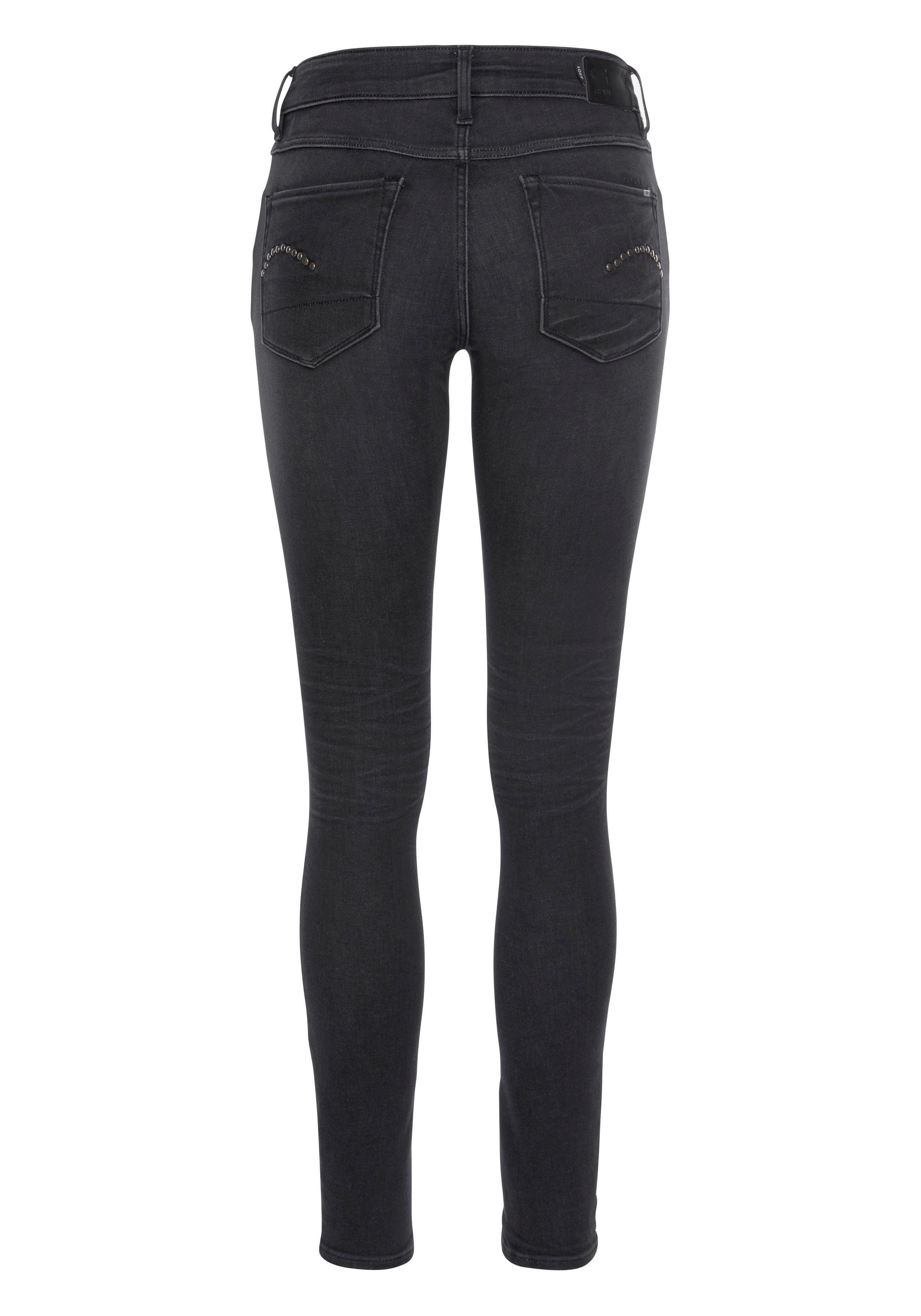 Mit Raw Nieten Kaufen »3301 jeans Studs Skinny 5 Online pocket Wmn« Mid Gesäßtaschen Den An G star EbHeWYDI29