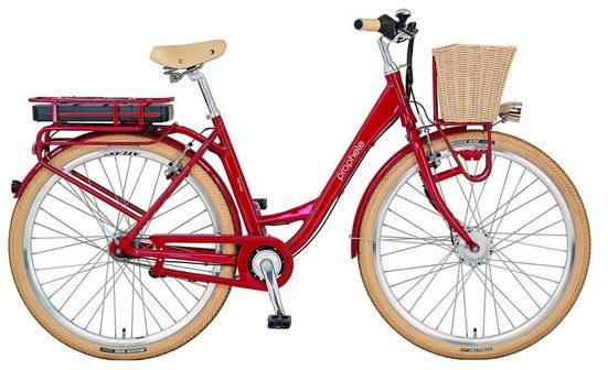 Prophete E-Bike »Geniesser e-retro«, 3 Gang, Nabenschaltung, Frontmotor 250 W, (mit Fahrradkorb)