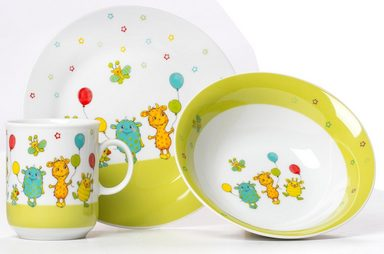 Ritzenhoff & Breker Kindergeschirr-Set »Monsterchen« (3-tlg), Porzellan