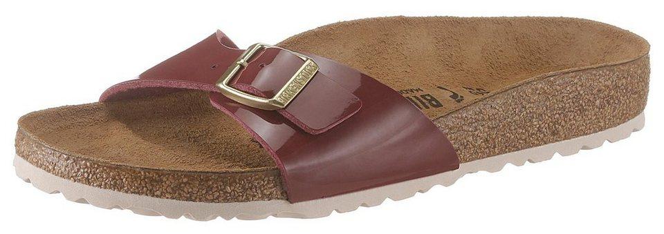 best loved fcaf0 2fd31 Birkenstock »MADRID BF« Pantolette in Lack-Optik und schmaler Schuhweite  online kaufen | OTTO