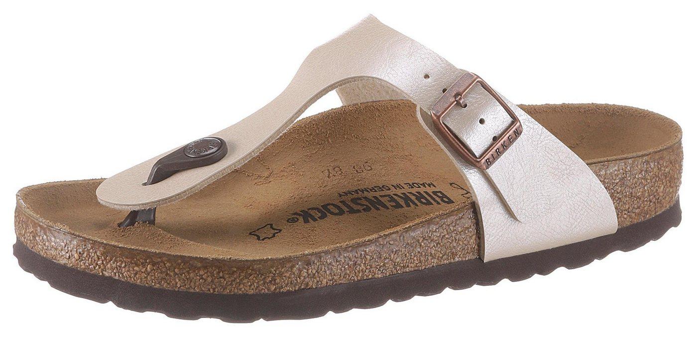 Birkenstock »GIZEH« Zehentrenner mit ergonomisch geformter Innensohle | Schuhe > Sandalen & Zehentrenner > Zehentrenner | Weiß | Birkenstock