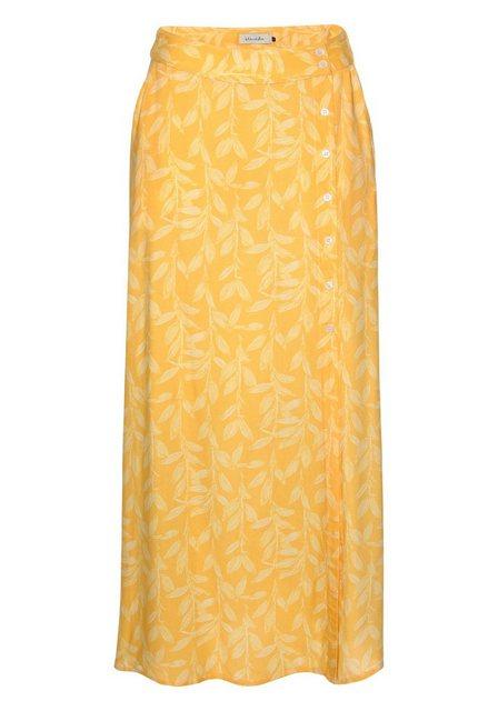 Blendshe Sommerrock in der Trendfarbe gelb mit Allover-Print | Bekleidung > Röcke > Sommerröcke | Blendshe
