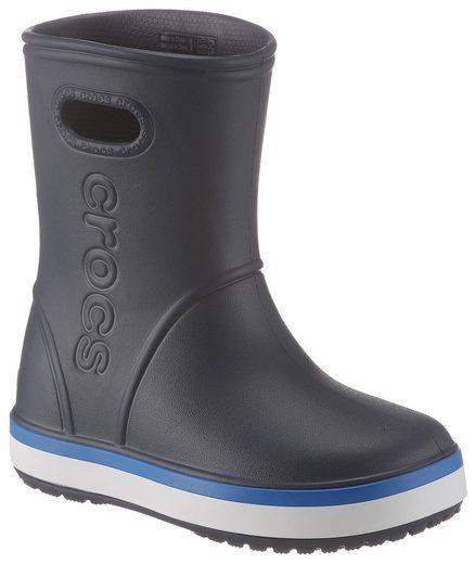 Crocs »Crocband Rain Boot Kids« Gummistiefel mit reflektierendem Logo