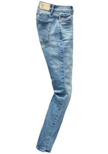 G star Wmn« Mid Stretch jeans »3301 Deconst Straight Straight Mit Raw TT7aqwdOr