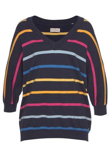 Funky V Mit pullover Streifen ausschnitt Bunten Buddha r5I7qr