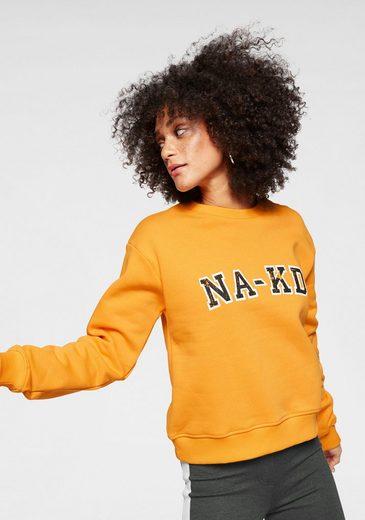 NA-KD Sweater »609« Hoodie mit Logo Print