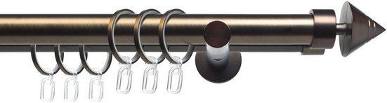 Gardinenstange »CELKEGEL01SG2L«, Liedeco, Ø 25 mm, 2-läufig, Fixmaß, 2-läufig im Fixmaß Ø 25 mm
