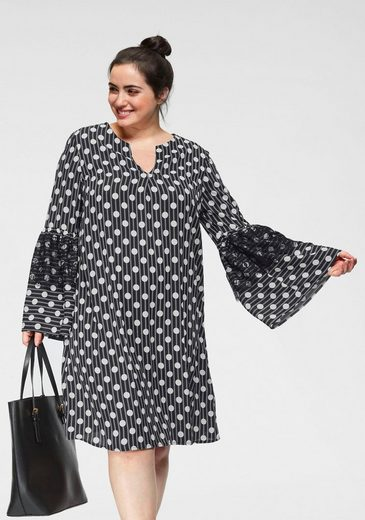 GMK Curvy Collection Tunikakleid mit Punkte-Druck