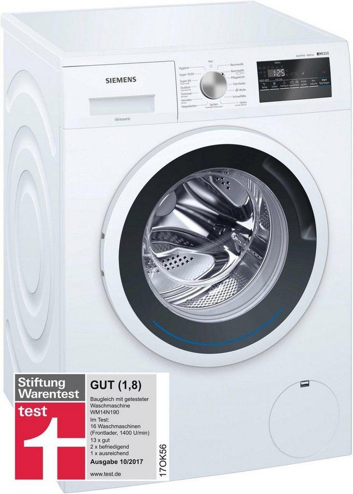 siemens waschmaschine iq300 wm14n140 6 kg 1400 u min online kaufen otto