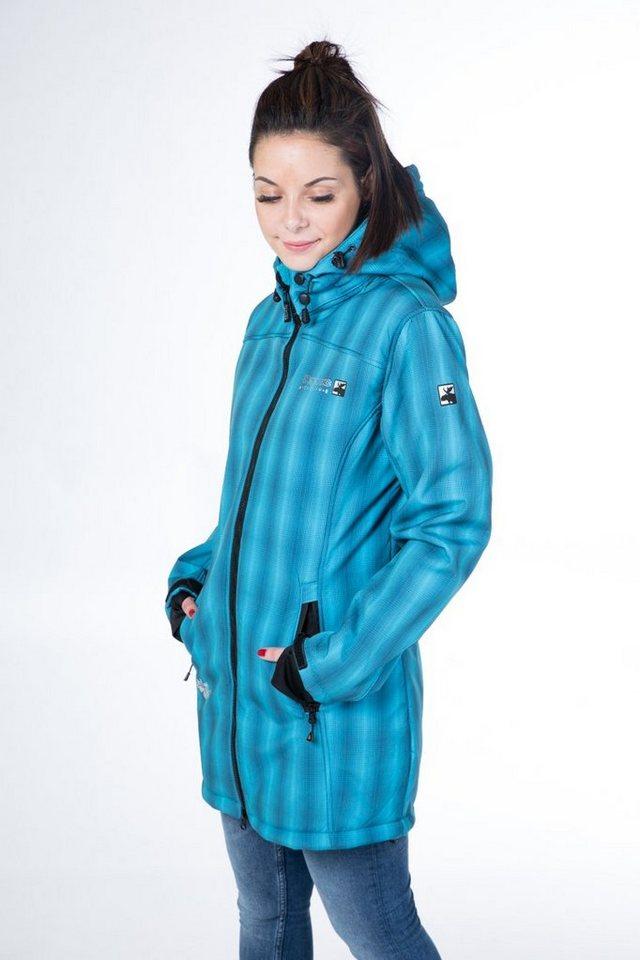 DEPROC Active Softshellmantel »KEELE PEAK WOMEN« auch in Großen Größen erhältlich   Sportbekleidung > Sportmäntel > Softshellmäntel   Grün   Fleece - Polyamid   DEPROC Active