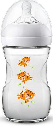 Philips AVENT Babyflasche »Natural Flasche SCF070/20 Design Tiger«, Anti-Kolik-System