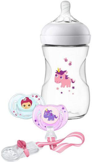 Philips AVENT Babyflasche »SCD287/25«, Geschenkset für Mädchen