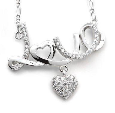 Schmuck-Elfe Collier »Love mit Herzchen« 925 Silber