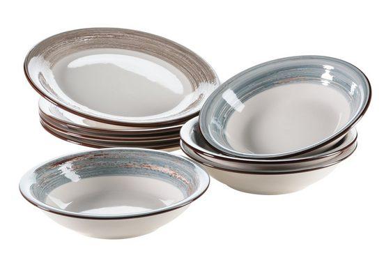 MÄSER Set: Tafelservice, Keramik »Duole« 8-teilig