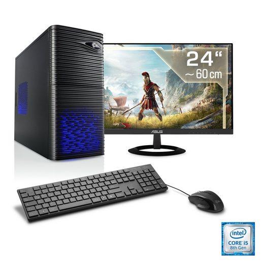 "CSL Gaming PC Set | Core i5-8400 | GTX 1050 Ti | 8 GB DDR4 | 24"" TFT »Speed T5899 Windows 10 Home«"