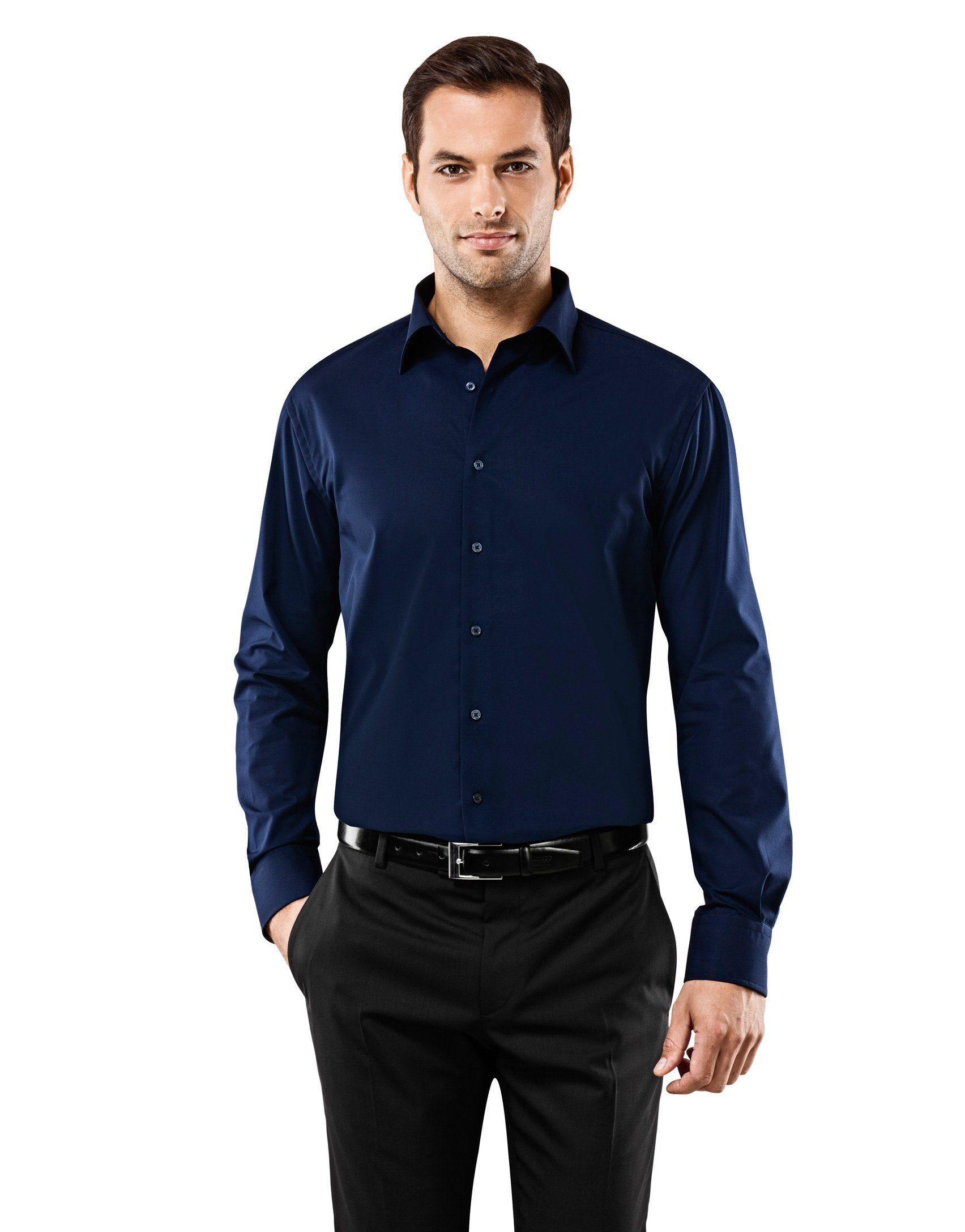 Vincenzo Boretti Business-Hemden (langarm)