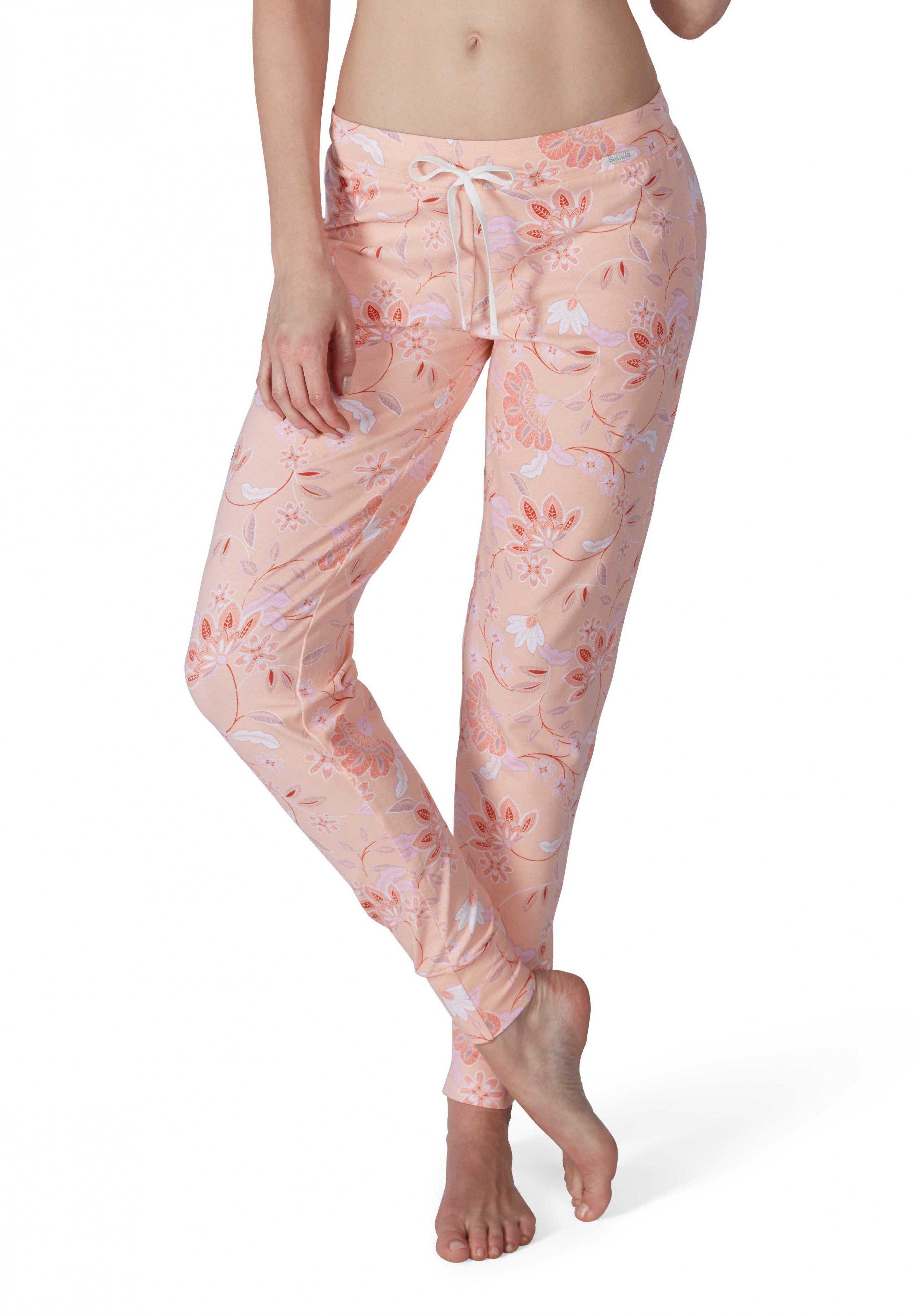 Skiny Modern Nomad Sleep Hose lang mit floralem Print