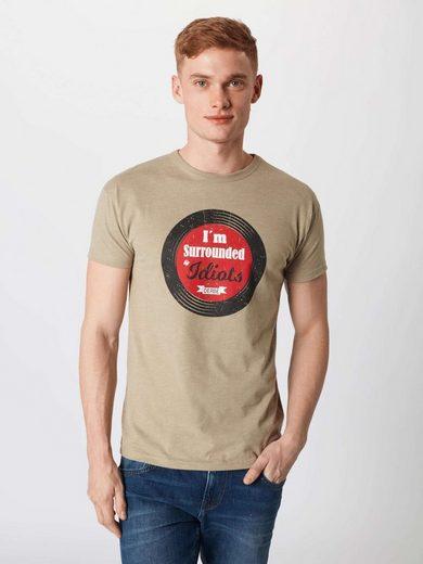 Grau Derbe Grau Rundhalsshirt »idiots« Derbe Derbe Rundhalsshirt »idiots« 29DHeWEIY