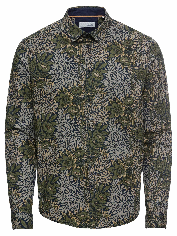 Solid Langarmhemd »Juan Flower LS«