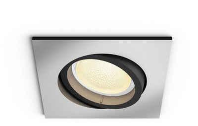 Philips Hue LED Einbaustrahler »White & Col. Amb. Centura eckig aluminium 350lm«