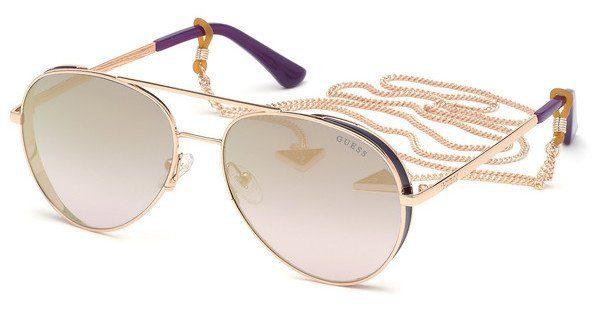 Guess Damen Sonnenbrille »GU7607«, Pilotförmige Vollrandsonnenbrille online kaufen | OTTO