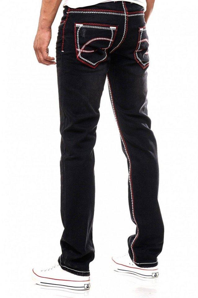 2995d6a25dd1ed Rusty Neal Jeans mit farblich abgesetzten Nähten, Dicke Naht in ...
