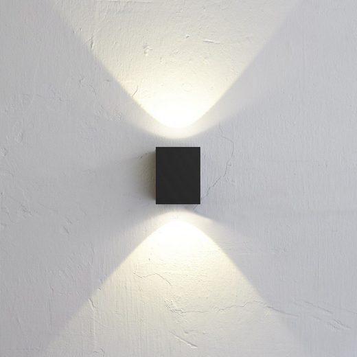 Licht-Trend Aussen-Wandleuchte »Baleno Quadi LED Up&Down Schwarz«