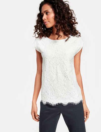 529e305bedaee2 TAIFUN T-Shirt Kurzarm Rundhals »Shirt mit Spitze«