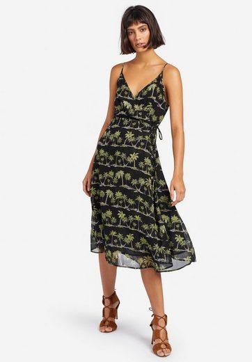 khujo Sommerkleid »JADE« in Wickeloptik mit Schleife und Print