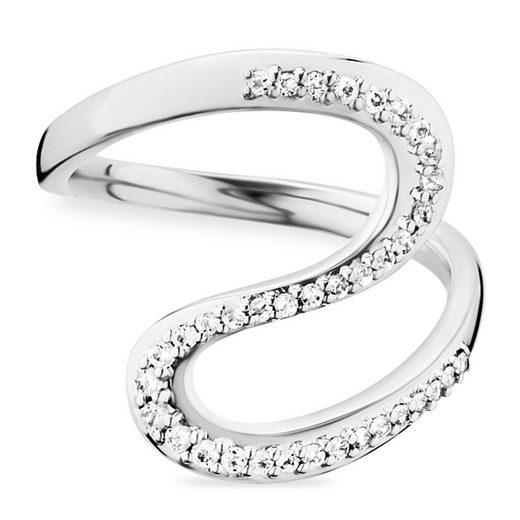 CAÏ Ring »925/- Sterling Silber rhodiniert Topas«