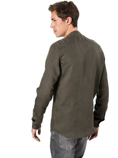 »shirt Land Chinacol« Linnen Leinenhemd Solid BanqZw45w
