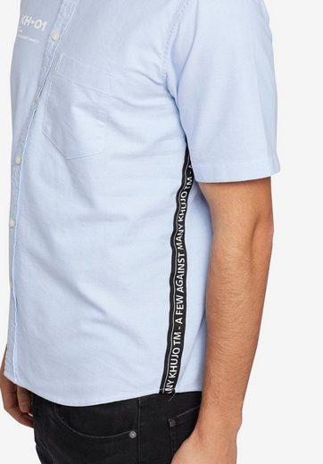 Kurzarmhemd Und Aus Druck streifen Label Khujo Mit »tern« qualität Oxford 7wqqpS