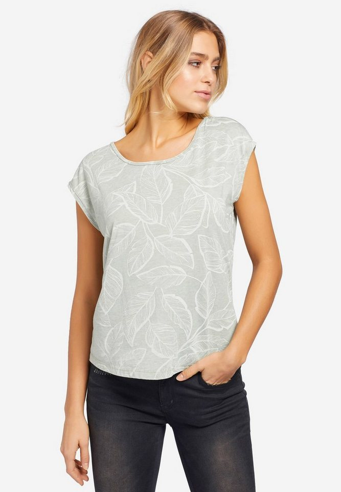 khujo Oversize-Shirt »GABRISA PALM LEAVE« (1-tlg) mit All-Over-Print und Cut-Out