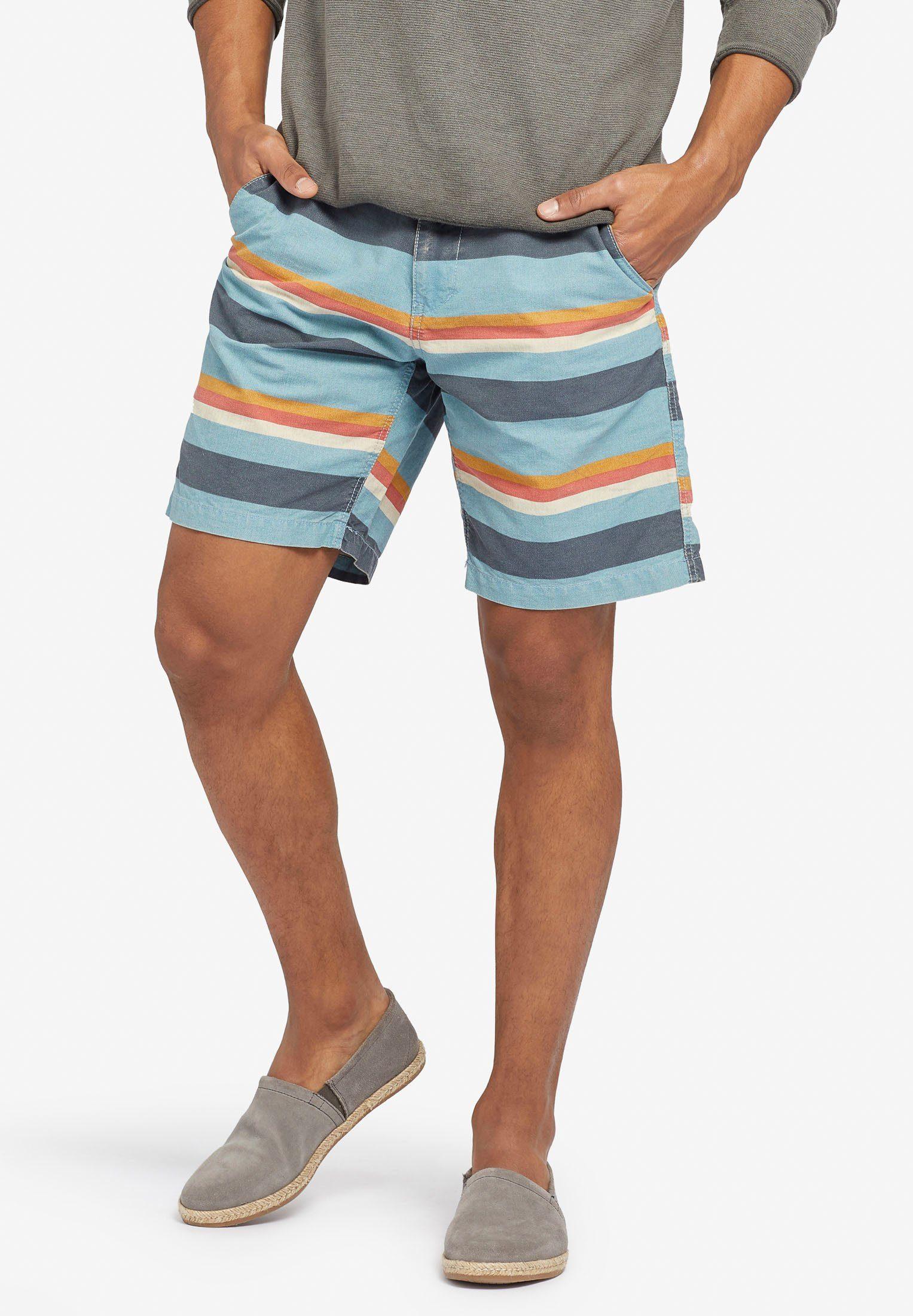 khujo Shorts »SOFIANE« aus reiner Baumwolle mit Streifenmuster