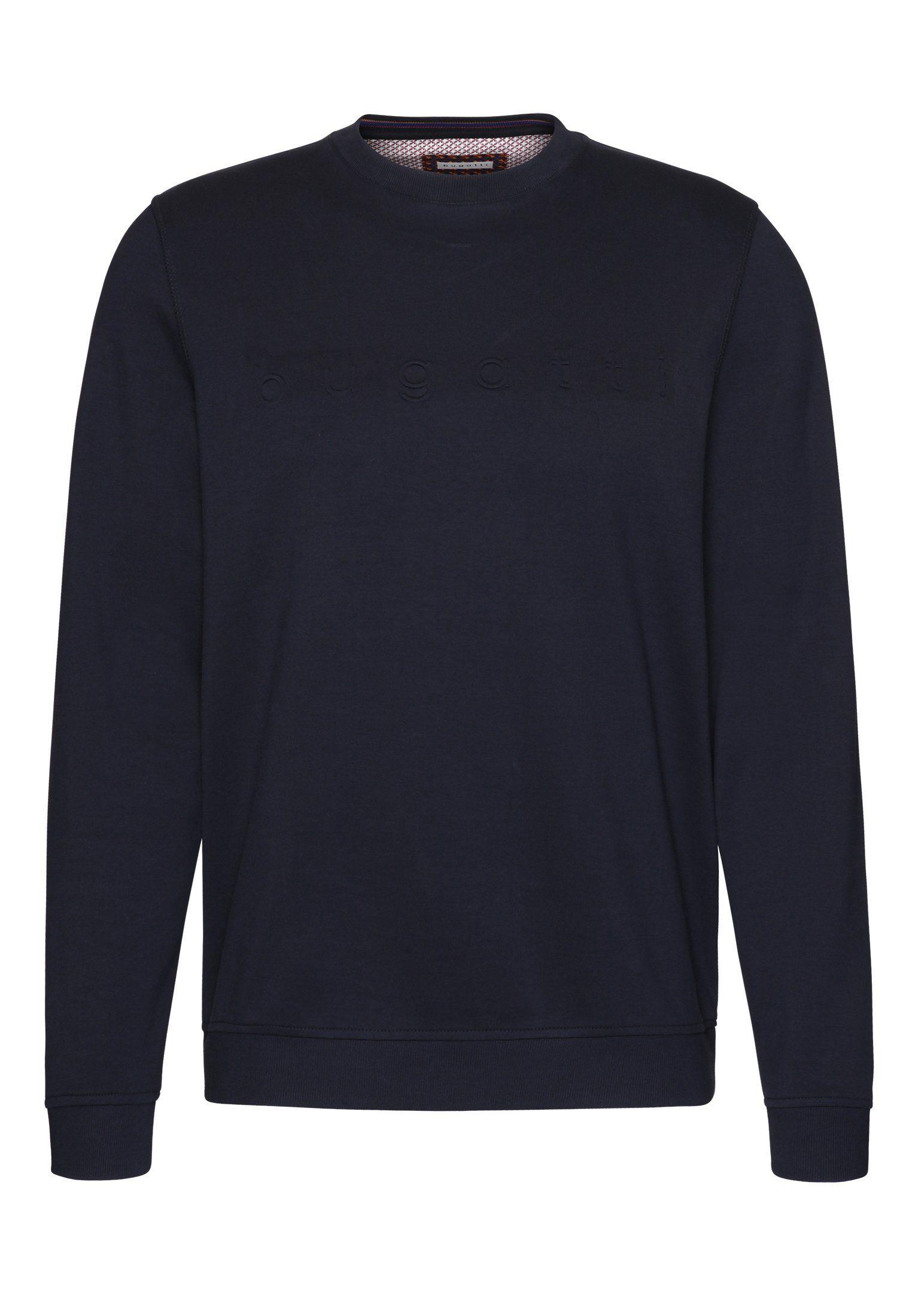 bugatti Sweatshirt mit bugatti Schriftzug auf der Brust