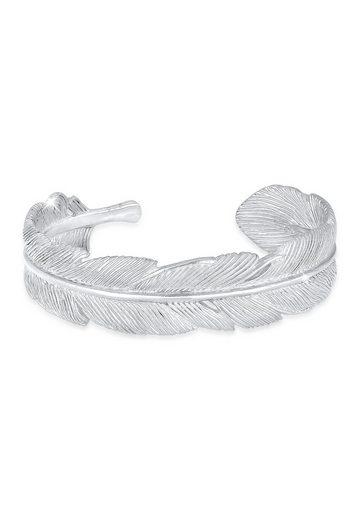 Elli Armreif »Armreif Bangle Feder Boho 925 Sterling Silber«