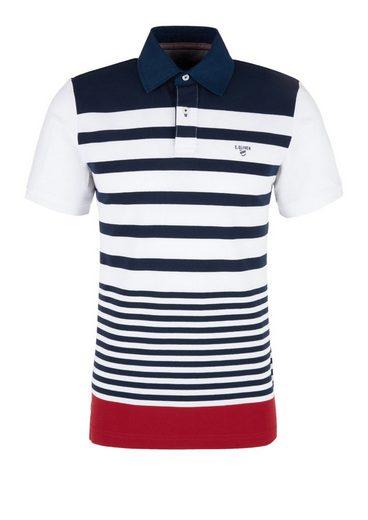 oliver Poloshirt Maritimen S Label Red White Mit Streifen u13TlFKJc