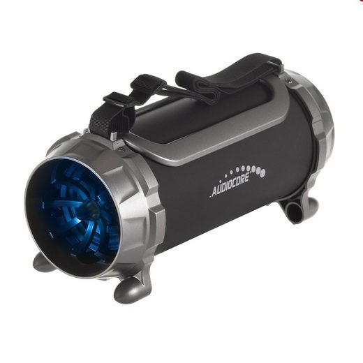 Audiocore AC890 Bluetooth-Lautsprecher (A2DP Bluetooth, mit farbwechselnder LED-Beleuchtung, USB, AUX, MicroSD, FM-Radio, 100W [PMPO)