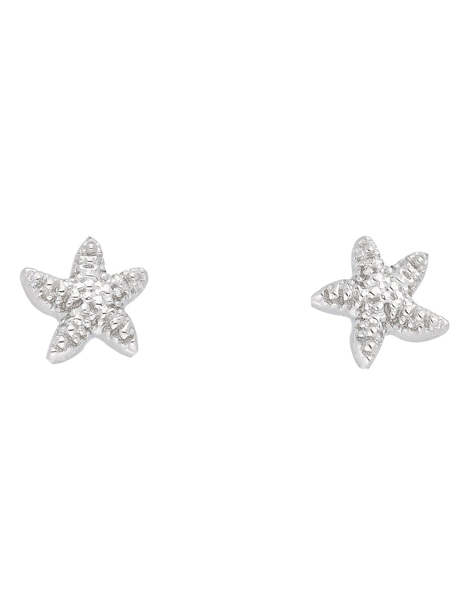 Adelia´s Paar Ohrstecker »Silber 925 Sterling Silver Ohrringe - Ohrstecker« Seestern 925 Sterling Silber