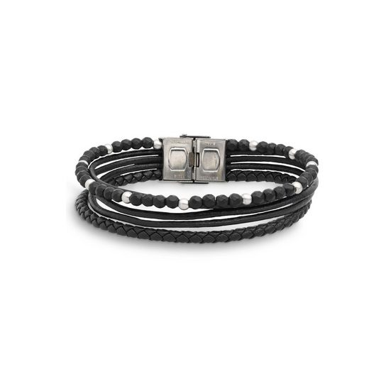 XENOX Armband »Leather & More X4521« mit Achat