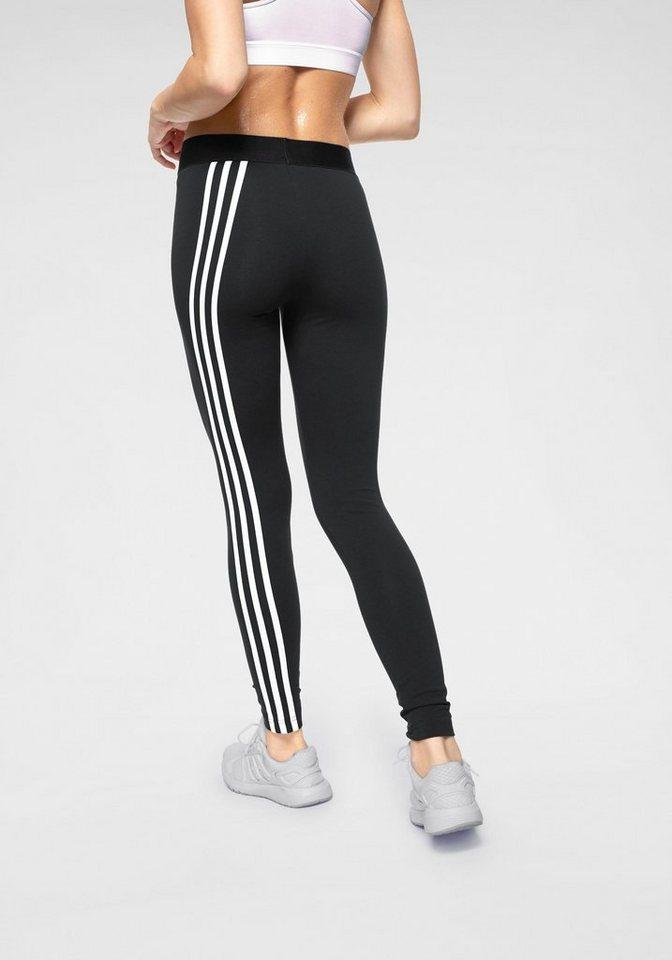 Damen adidas Performance Leggings »W ASYM 3 STRIPES TIGHT« grün, schwarz   04061619663488