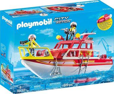 Playmobil® Konstruktions-Spielset »Feuerlöschboot«, City Action