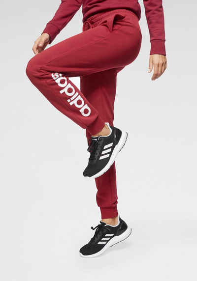 adidas jogginghose dunkel rot